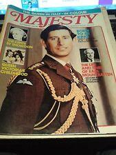 """Majesté magazine """"Reine en Italie en couleur"""" 1980 in (environ 5029.20 cm) novembre Très bon état"""