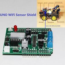 L293D Motor driver with UNO Sensor Shield / Arduino UNO R3 WiFi Sensor Shield