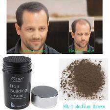 Hot Dexe Hair Building Fibers 22g Medium Brown Color -new