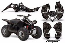 AMR Racing Suzuki LTZ 50 Quad Graphics Kit ATV Sticker Decals 06-09 REAPER BLACK
