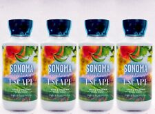 4 Bath & Body Works SONOMA WEEKEND ESCAPE Body Lotion Cream Nourish Moisture