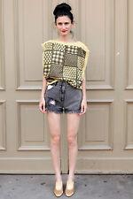 Crystal Jeans Damen Hose pants schwarz black kurz 80er True VINTAGE 90´s women