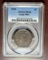 1840 PCGS XF-40 Braided Hair Large Cent #W6940