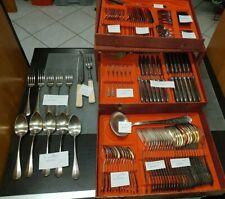 menagere couteau fourchette cuillère  argent et inox