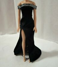 Black Dress for Doll -Handmade Clothes for doll 11-11.5-12in