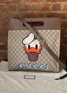Authentic Gucci Donald Duck Tote Disney Canvas GG Supreme Bag