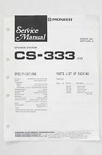 Pioneer CS-333 Original Speaker System Service Manual/Guide/ WIRING DIAGRAM! O68
