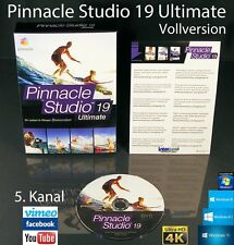 Pinnacle Studio 19 Ultimate Vollversion Box + DVD 4K Videosoftware +Handbuch NEU