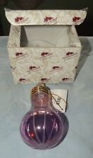 Egyptian Museum lightbulb shaped ornament hand blown ornament with box Lavender