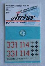 Archer 1/35 Panther Ausf.A Markings Mix #7 I./Pz.Rgt.4 Italy 1944 AR35165