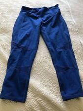 Ladies Yummie Yoga Exercise Pants with Tiny Pocket in Back Royal Blue Size M