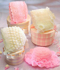 Baby Crochet Pattern ~ Double Knitting & 4 Ply Bonnets & Hats   0 ~ 2 yrs
