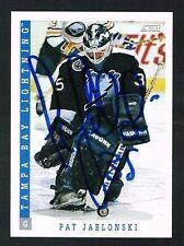 Pat Jablonski #349 signed autograph auto 1993-94 Score Hockey Trading Card