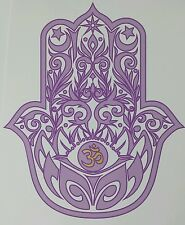 HAMSA HAND with LOTUS and OM symbol quality Vinyl Decal Sticker indoor/outdoor