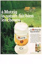 PUBLICITE  1969   MUTZIG   bière