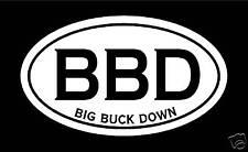 Big Buck Decal Sticker hunting archery deer
