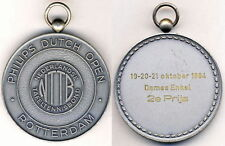 1984 DUTCH OPEN Table Tennis WINNER´S MEDAL ping pong HOLLAND Rotterdam