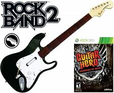 NEW Xbox 360 Rock Band 2 Fender Stratocaster & Guitar Hero Warriors of Rock Game