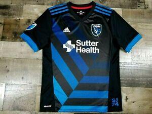 San Jose Quakes MLS Soccer Jersey Adidas YOUTH BOYS Large (13-14)