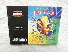 """Simpsons Bart vs World"" manual - no game . Nes Nintendo"