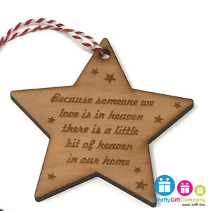 Because someone we love is in heaven memory bauble tree decoration Christmas