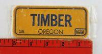 Vintage 1982 Cereal Prize Mini Bike Bicycle Metal License Plate Timber Oregon
