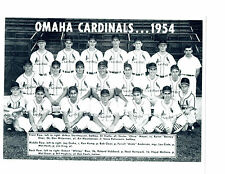 1954 Omaha Cardinals 8X10 Team Photo Baseball Nebraska