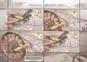 NEW Moldova 2020 CEPT Europa Ancient postal routes Block 4 stamps MNH