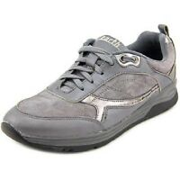 Earth Origins Traveler Grey Multi Suede Leather Lace Up Shoes Size: 7.5 Wide