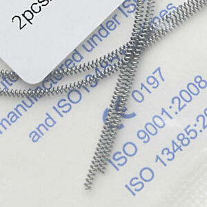 2 Pcs Dental Orthodontic NITI Alloy Open Coil Spring Arch Wires 0.010*180mm