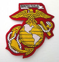 """EAGLE GLOBE AND ANCHOR 4"""" Military Veteran Biker US MARINE CORPS Patch PM1685 EE"""
