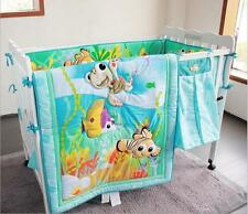 8 Piece Baby Bedding Set Underwater World Nursery Quilt Bumper Sheet Crib Skirt