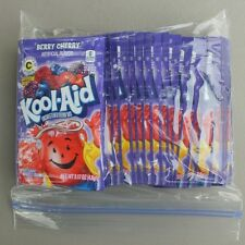 24 packets of KOOL-AID drink mix: BERRY CHERRY flavored UNSWEETENED vitamin c