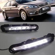 2x DRL LED Daytime Running Lights Fog Lamps White for Ford Mondeo 2010 2011 2012