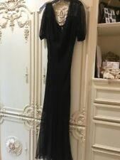 Stunning Christian Dior Boutique Sz 8 Black Gown