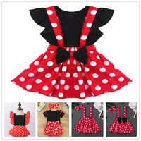 Infant Baby Girls Romper + Polka Dots Skirts Party Outfits Kids Birthday Costume