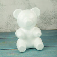 Modelling DIY White Polystyrene Styrofoam Foam Bear Valentine Gift Party Decor