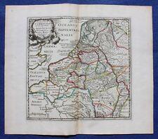 Antique atlas map NORTH WEST EUROPE, 'GERMANIAE CISRHENANAE', Cluver, c.1697