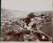 G.J., Monaco, Monaco, vue générale de la principauté  vintage print. Tirage ci