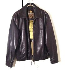 Marc New York 1st Class Brown Leather Moto Bomber Jacket Sz Xl