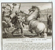 Spartacus Kills his Horse at the Head of his Army -1810 Copper Engraving