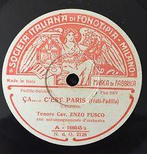 """RARE 78 RPM 10"""" ENZO FUSCO CA...C'EST PARIS /IL VALZER DEI TABARINS FONOTIPIA"""