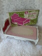 Vintage 1964 Rare Susy Goose Queen Size Barbie Plastic Bed, Original Mattress