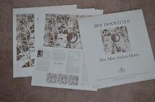 Bev Doolittle Two More Indian Horses 3 Panel Set Signed Numbered Prints COA