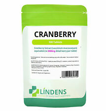 Succo di Cranberry 5000mg mg (100 Pack) vie urinarie Salute Urinaria, mal di gola