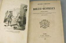 BOILEAU DESPREAUX Oeuvres complètes Ruel 1847 Gravures Livre Ancien Old Book