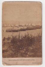 Ny 17th Volunteers Regiment Camp by Mathew Brady Rare Civil War 1860s Cdv