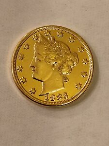 1883 Liberty Head Racketeer Nickel, Beautiful Proof Like GOLD plated, No Cents