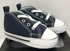 Converse Infant Size 3 First Star Navy Canvas Crib Soft Bottom Shoes 88865