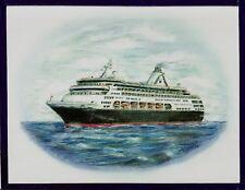 Original Art Work . ms Veendam.cruise ship. H.A.L.